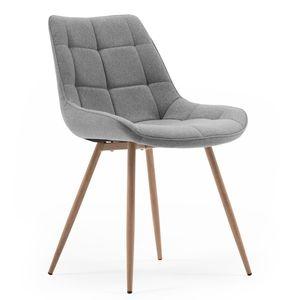 Homestyle4u 1942, Polsterstuhl Stuhl Grau Esszimmerstuhl Polstersessel Sessel Küchenstuhl