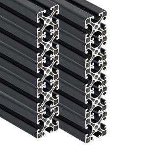 PremiumX 10x 2000mm Aluminium Profil Aluprofil 40x40 mm Nut 8 Strebenprofil Anthrazit
