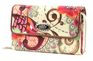 Oilily Tropical Birds Big Wallet Off White
