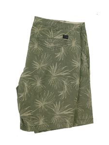 Replika Flower Printed Shorts in großen Größen, khaki, INCH Größen:44 Inch