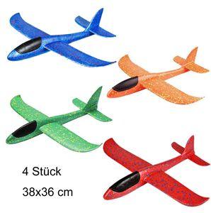 MIIGA Segelflugzeug für Kinder Styropor-Flugzeug 38 x 36 cm