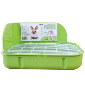 Grün Pet Kaninchen quadratische Toilette Wurf Haustier Toilette Töpfchen Trainer