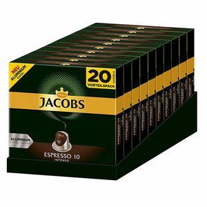 JACOBS Espresso 10 Intenso 200 Nespresso®* kompatible Kaffeekapseln