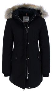 Tommy Jeans Technical Down Jacket Damen Winter Parka, Größe:L, Tommy Jeans Farben:TOMMY BLACK