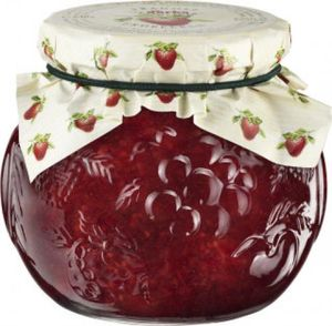 Darbo Konfitüre Extra Erdbeer in einem Glas Dekorglas mit 640g