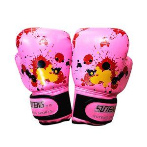 Kinder Cartoon Boxhandschuhe Kickboxen Boxsack Training Kampf Alter 3-10 LYG200515214PK