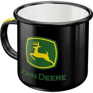 Nostalgic-Art - Camping Emaille-Becher Kaffeepott Kaffeetasse - John Deere Logo