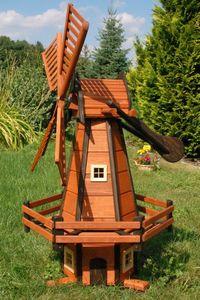 Garten-Windmühle aus Holz – Höhe 1,20 Meter H1