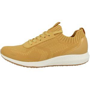 Tamaris Damen Low Sneaker Tavia Fashletics Lace UP 1-23714-26 Gelb 600 Yellow Textil/Synthetik mit Removable Sock, Groesse:37 EU