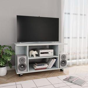 anlund TV-Schrank mit Rollen Betongrau 80×40×40 cm Spanplatte