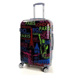 Motiv Koffer Trolley Bowatex Printkoffer Bordgepäck Rio New York Paris London 57