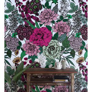 Coloray Fototapete 360x250 cm Vlies-Fototapete - Vintage Blumen Rosen Rosen