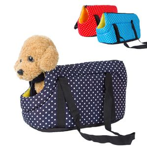 Tragbare Hunde Tragetaschen Hundetaschen Transporttaschen Katzentaschen Blau 35*20*22cm Hunde-Tragetaschen