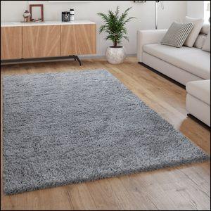 Hochflor-Teppich, Kuschelig Weich, Moderner Einfarbiger Flokati-Teppich In Grau, Grösse:160x230 cm