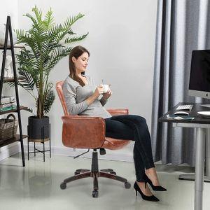 Futurefurniture® Bürostuhl Chefsessel Kunstleder-Stuhl Drehstuhl Stuhl Computerstuhl Sitzhöhenverstellung Spielstuhl-Braun