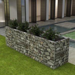 Gabionen-Hochbeet Garten-Hochbeet Hochbeet Stahl 360×90×100 cm