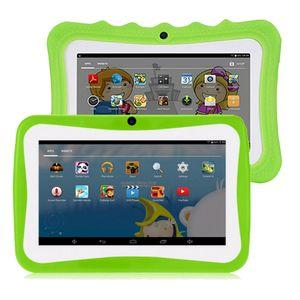 7 Zoll Kinder Tablet Android Tablet PC 8 GB ROM 1024 * 600 Auflösung Tablets mit Silikonhülle EU-Stecker WiFi Tablet für Kinder,Grün