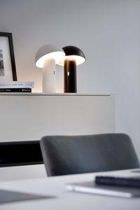 Sompex  LED Tischleuchte Svamp | Akkubetrieben | 3 verschiedene Farben | Dimmbar, Farbe:schwarz