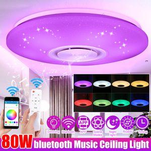 ECSEE Dimmbare 60W LED RGBW bluetooth Musik Deckenleuchte APP Fernbedienung Schlafzimmer