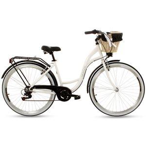 PolBaby Frauen Citybike Goetze Mood 28 ″ 7-Gang-Fahrrad-Weiß-Schwarz