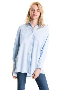 Big Star Damen Bluse Hemd Freizeit Business HILARIE 145692450 LIGHT BLUE-450 S