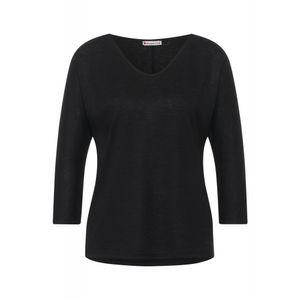 Street One Damen Langarmshirt A316624 Black