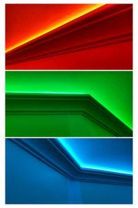 Sparpakete LED-1 bis LED-20 Profil aus Polyurethan- indirekte Beleuchtung, lichtundurchlässig, Inhalt:20 Meter, Modellnr:LED-6 / 130x100mm