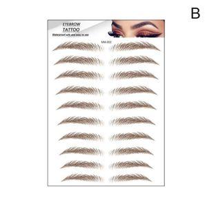 3d Haar-wie Augenbrauen Make-Up Wasserdicht Dauerhafte Augenbraue Tattoo Make-Up Aufkleber