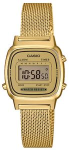 Casio Damenuhr Retro Damen Uhr LA670WEMY-9EF Digitaluhr