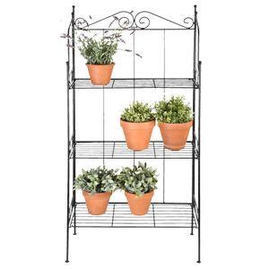 PflanzenLagerregal Küchenregal - Bücherregal für Wohnzimmer Badzimmer Küche 3 Böden L - direkt vom Hersteller HOM473078