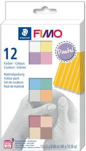 "FIMO SOFT Modelliermasse-Set ""Pastel"" 12er Set 12 Blöcke à 25 g"