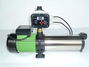 CHM GmbH Kreiselpumpe 2,2 Kw Gartenpumpe Edelstahl mit Drucksteuerung/Trockenlaufschutz