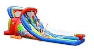 Happy Hop Hüpfburg Wasserrutsche  Hot Summer inkl. Gebläse RW-1E, L x B x H: (605, 210, 230) bis zu 3 Kinder; 9129