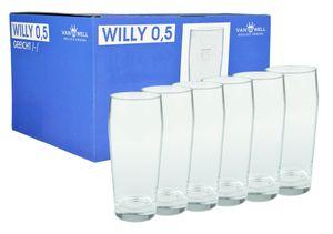 6er Set Bierglas Willibecher 0,5l geeicht Glas Biergläser Tumbler perfekt geeignet für Gastronomie