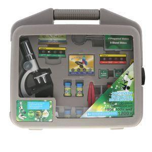 30 teilige Mikroskop mit Zubehör und Aufbewahrungsbox, Geschenk für Kinder