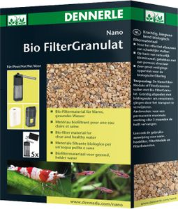 Dennerle NanoFilterGranulat, 300 ml - leistungsstarkes, biologisches Langzeit Filtermaterial