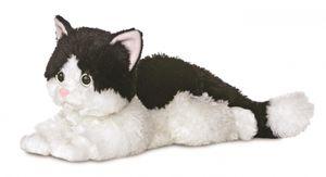 Aurora kuschelige Katze Ellie Flopsie 30,5 cm schwarz/weiß
