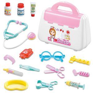 15 tlg. Doktor Arztkoffer Spielset Medizinische Medizinisch Zubehör Rollenspiel Spielzeug Kit für Kinder, Farbe: Rot