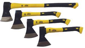4 tlg Set Holz Axt Beil Spaltaxt 600 800 1000 1250 g Fiberglasstiel
