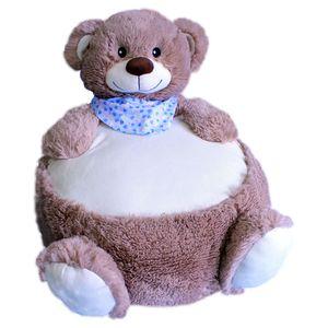 Kinder Sitzsack/Sitzkissen-Bär ca. 45cm, graubraun
