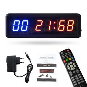 Gym Timer Stoppuhr mit Remote Countdown / Up Clock für Home Gym Fitness Training Intervall Timer Clock mit Wandhalterungen