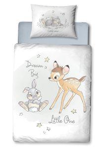 Disney Bambi Kinder-Bettwäsche 40x60 cm + 100x135 cm · Baby-Bettwäsche für Mädchen & Jungen - 100% Baumwolle