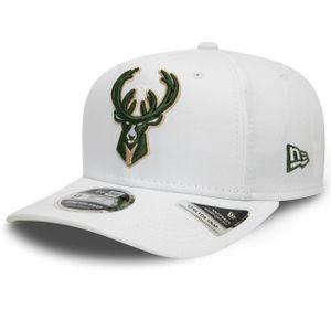 New Era - NBA Milwaukee Bucks White Base 9Fifty Snapback Cap - Weiß : Weiß M-L Farbe: Weiß Größe: M-L