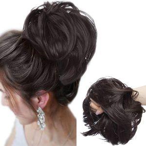 Haarteil Haargummi Extensions Messy Bun Dutt Hochsteckfrisuren Voluminös Haarverlängerung mit Gummiband