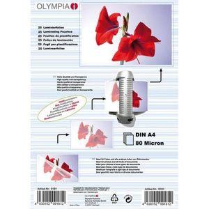 Olympia Laminierfolien DIN A4 80 micron (25 Stück)