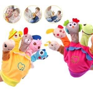 2 Stück Fingerpuppenspielzeug, das singen kann, kreatives Kinderspielzeug, Eltern-Kind-Interaktion, Handschuh-Plüschtier