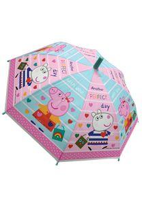Peppa Wutz Pig Kinder Stock-Schirm Regenschirm Kuppelschirm