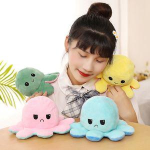 Doppelseitige Flip Octopus Puppe Plüschtier Niedliche Flip Octopus Puppe / Pink * Blau 10 * 20