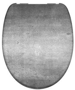 Schütte WC-Sitz INDUSTRIAL GREY Duroplast Kunststoff Absenkautomatik Motiv 82155