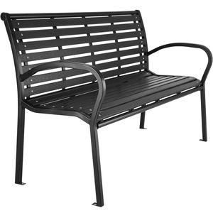 tectake 3-Sitzer Gartenbank Pino - schwarz